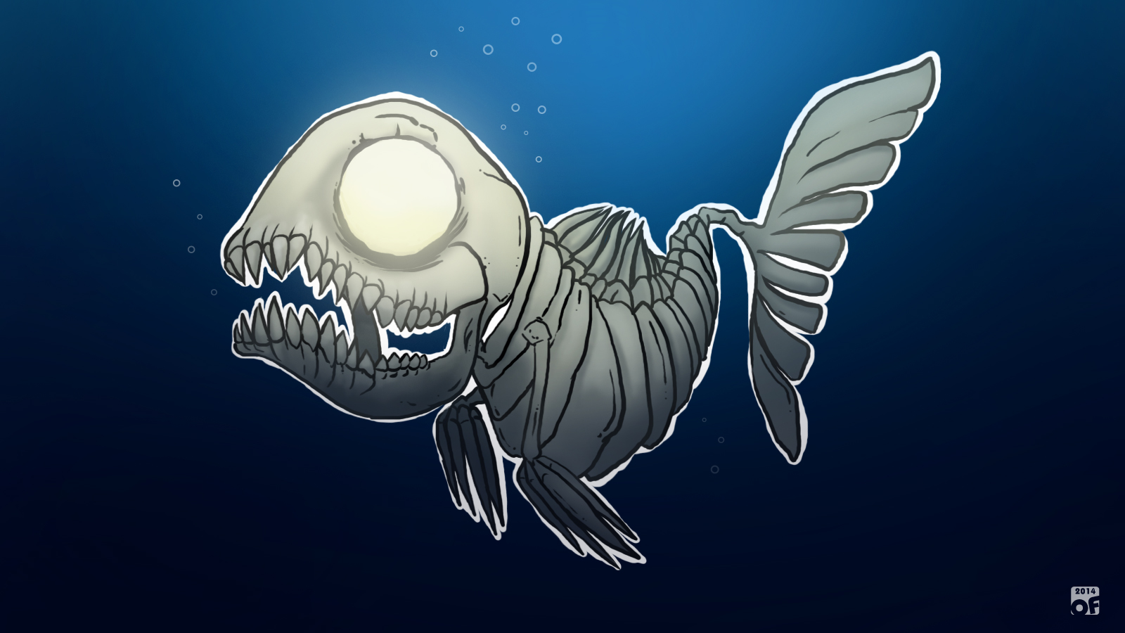 Creature drawing 01: Fishbone