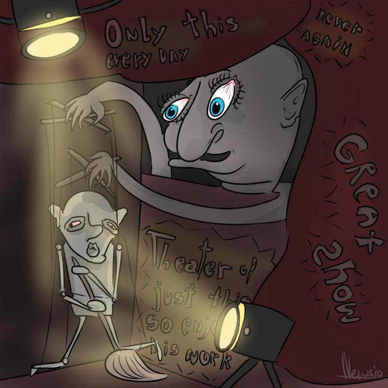 Random puppet show
