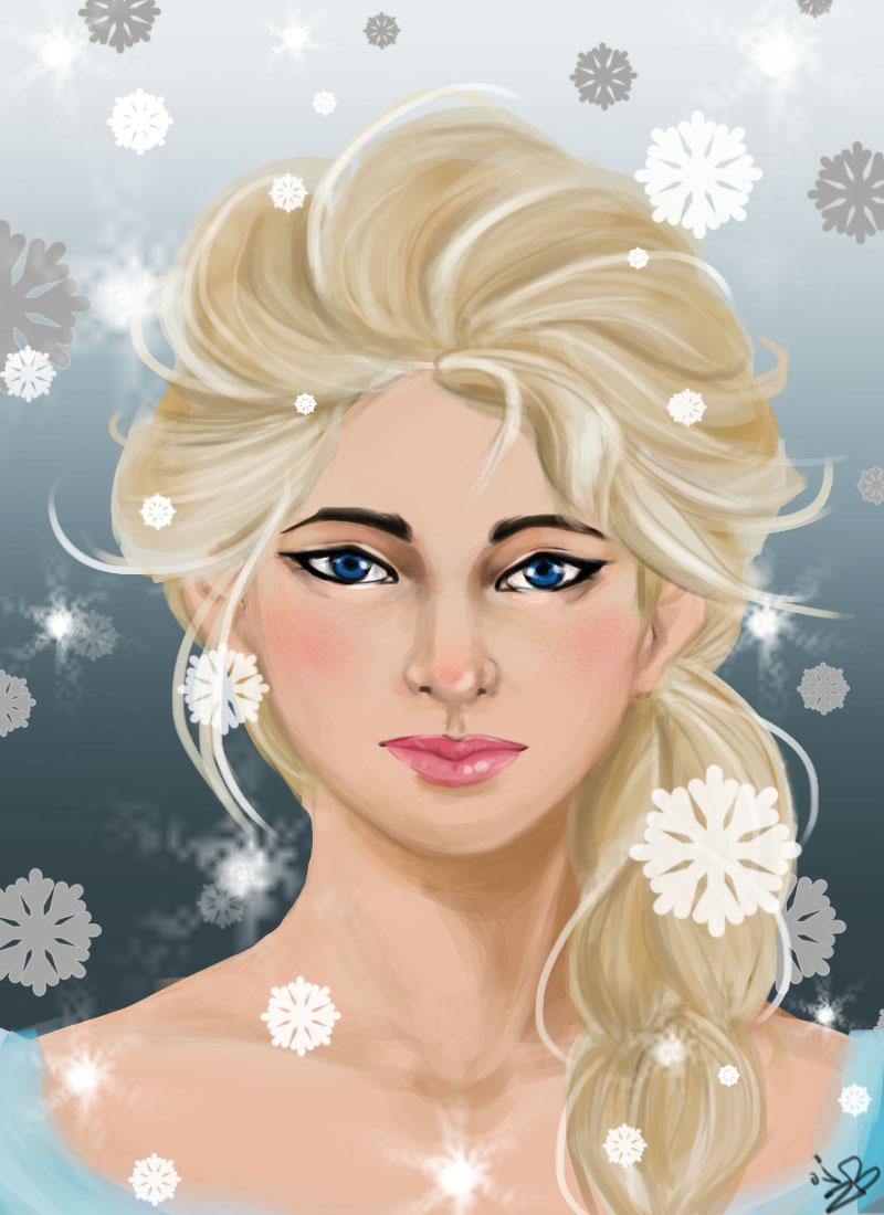 Elsa fanart...sorta.
