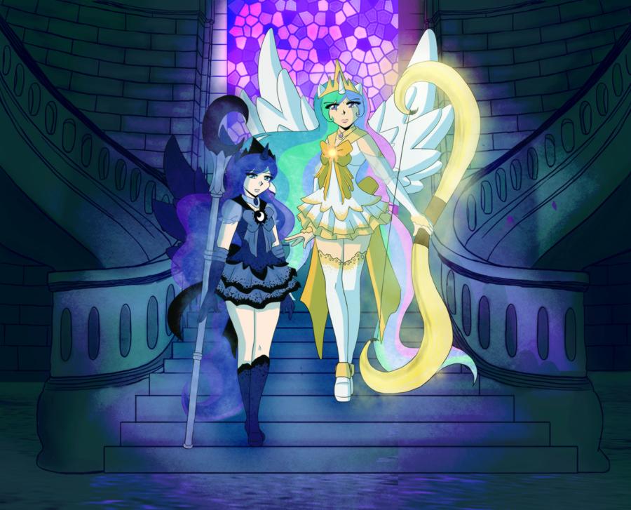 Sailor Celestia and Luna
