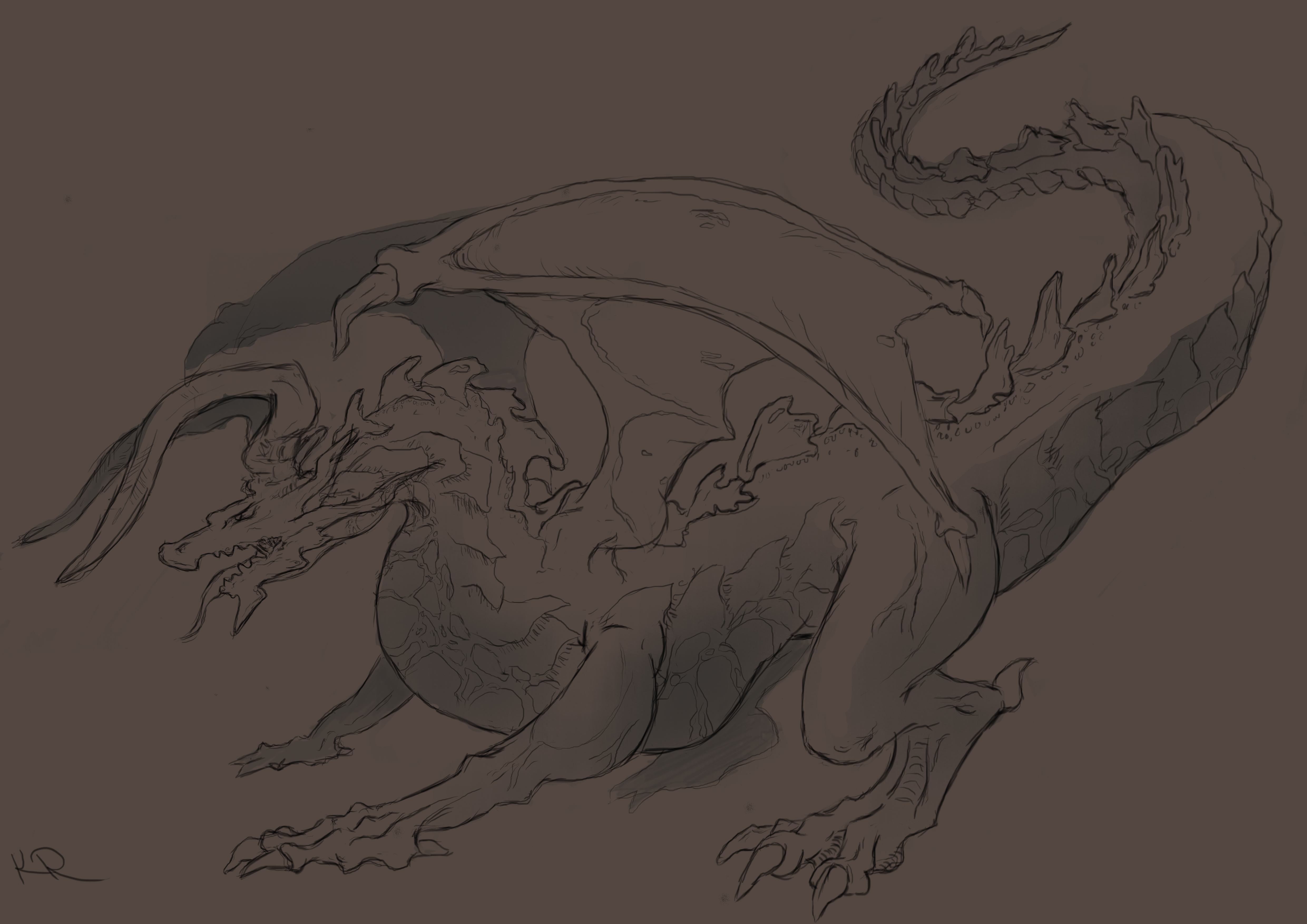 Dragon Line work