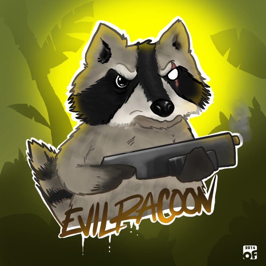 Creature Drawing01:Evil Racoon