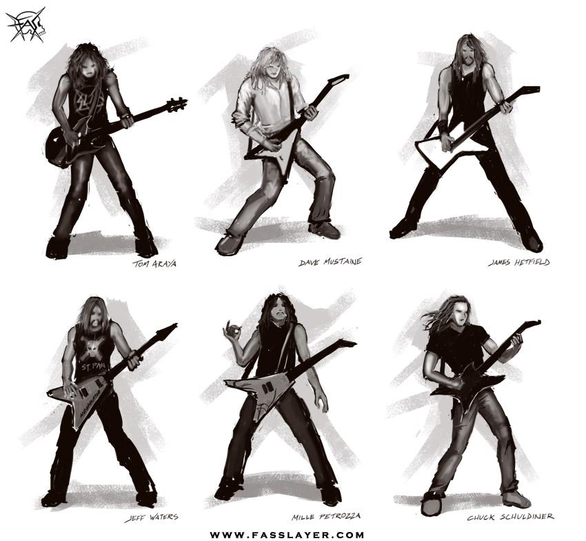 Metal stars silhouettes