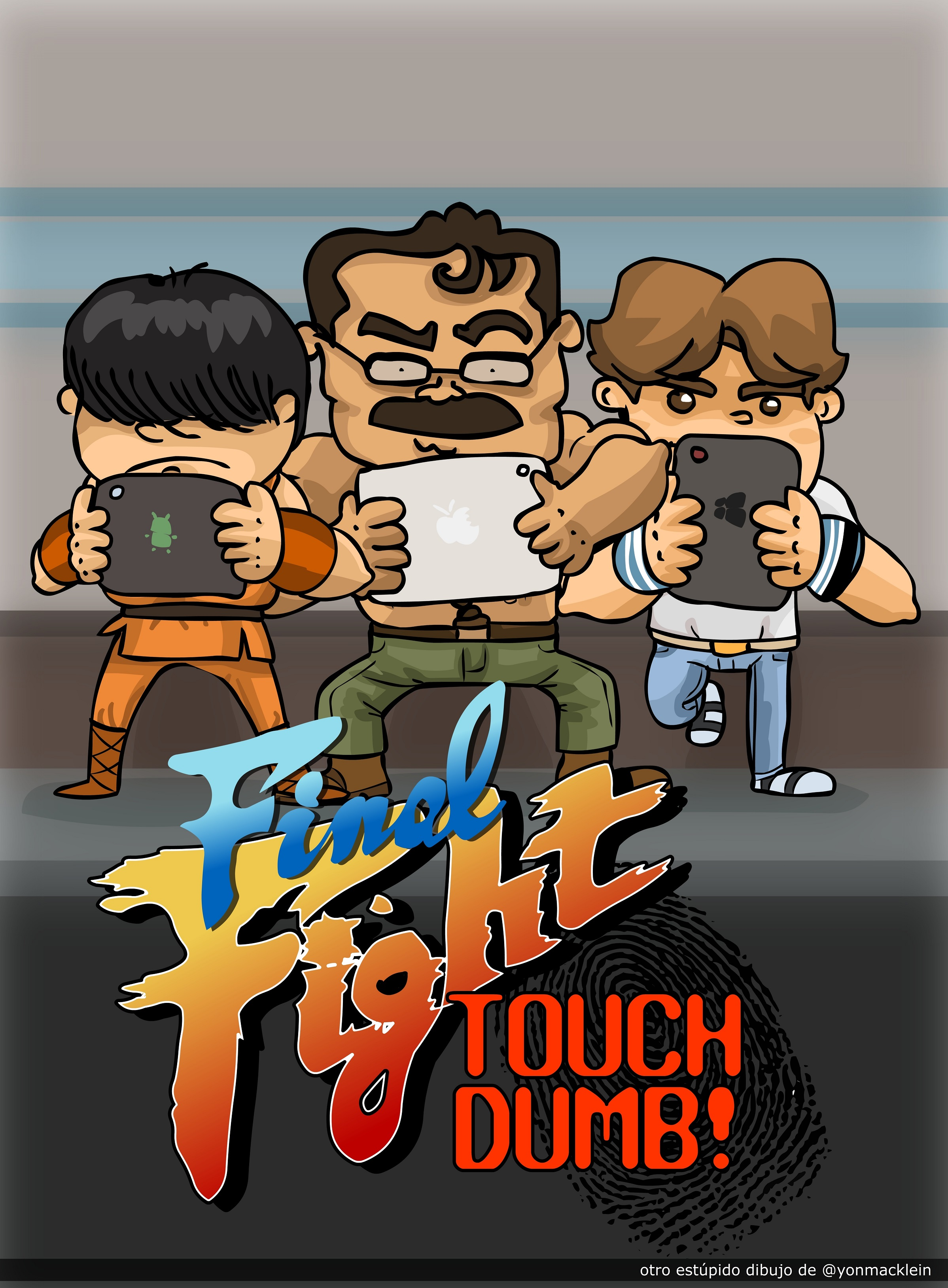 Retro Final Fight Touch Dumb!