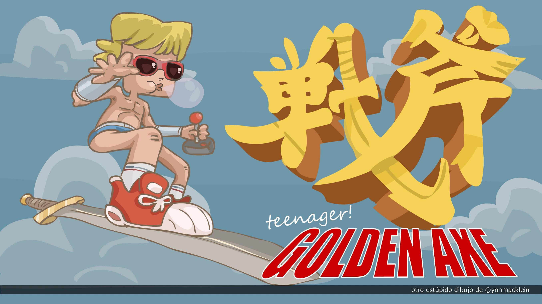 Teenager Golden Axe