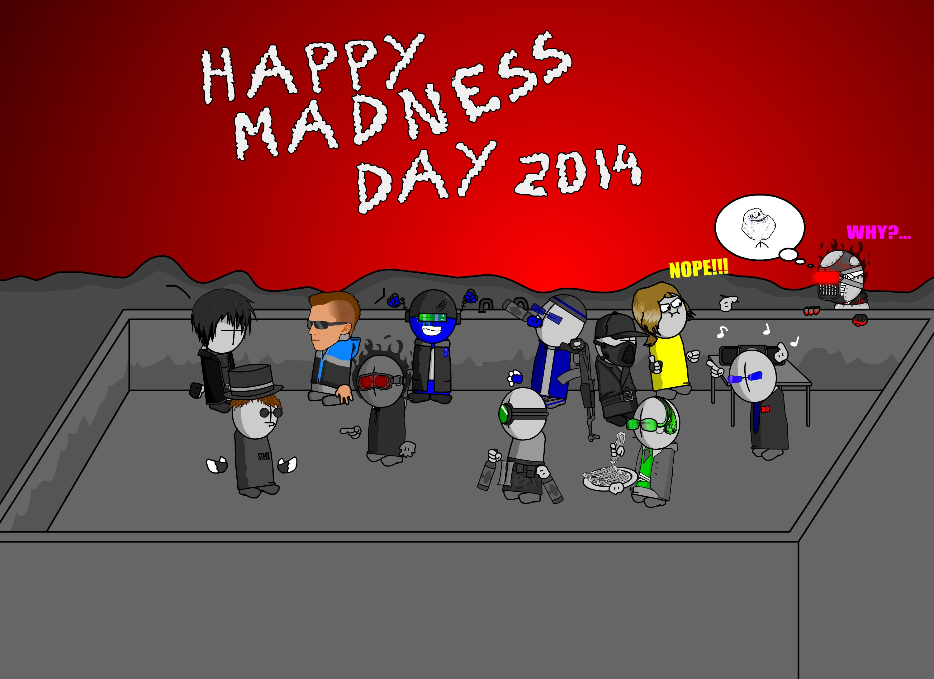 Madness Day Post Card 2014