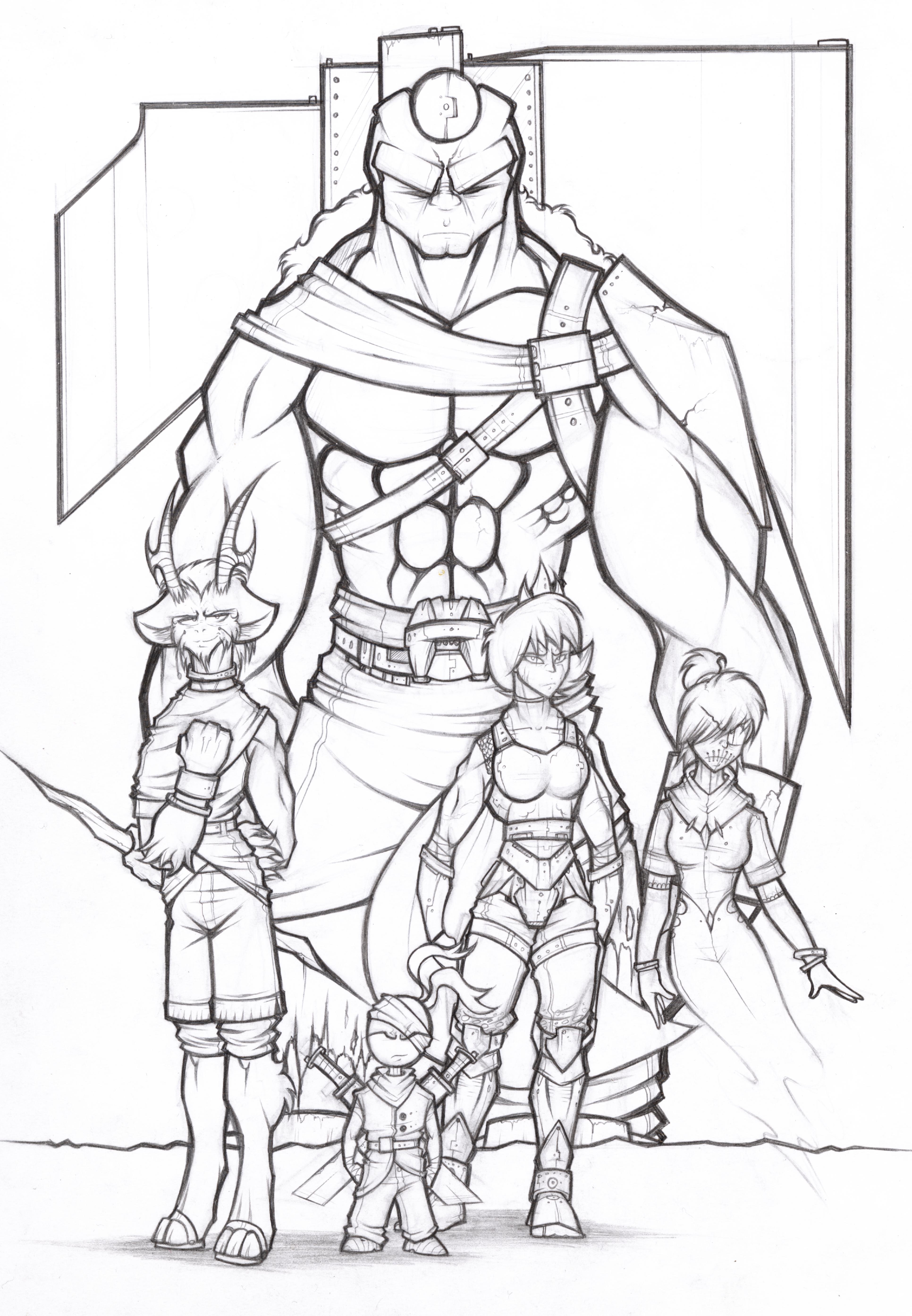 The Titan Gods (Pencils)