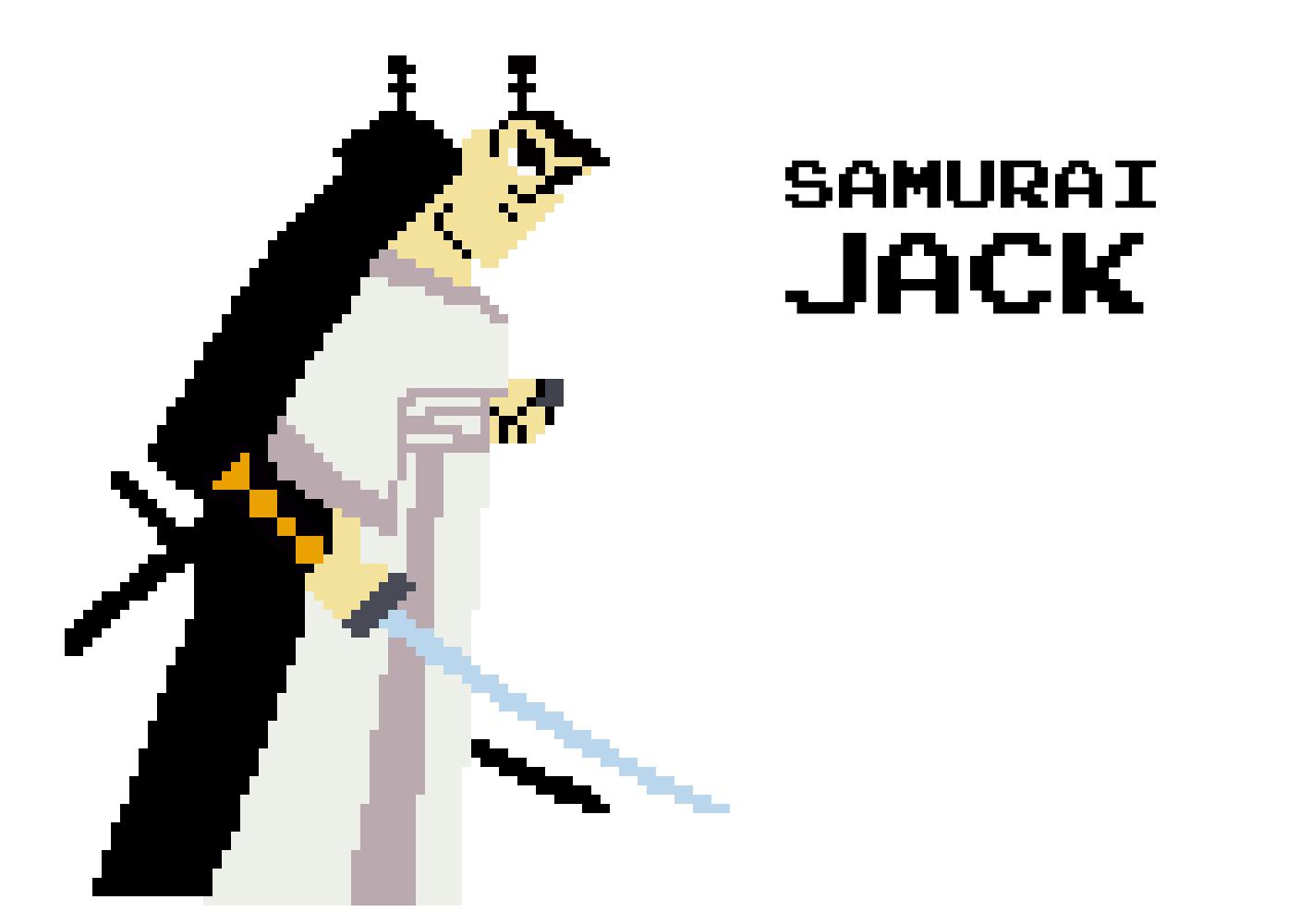 Samurai Jack Pixel Art