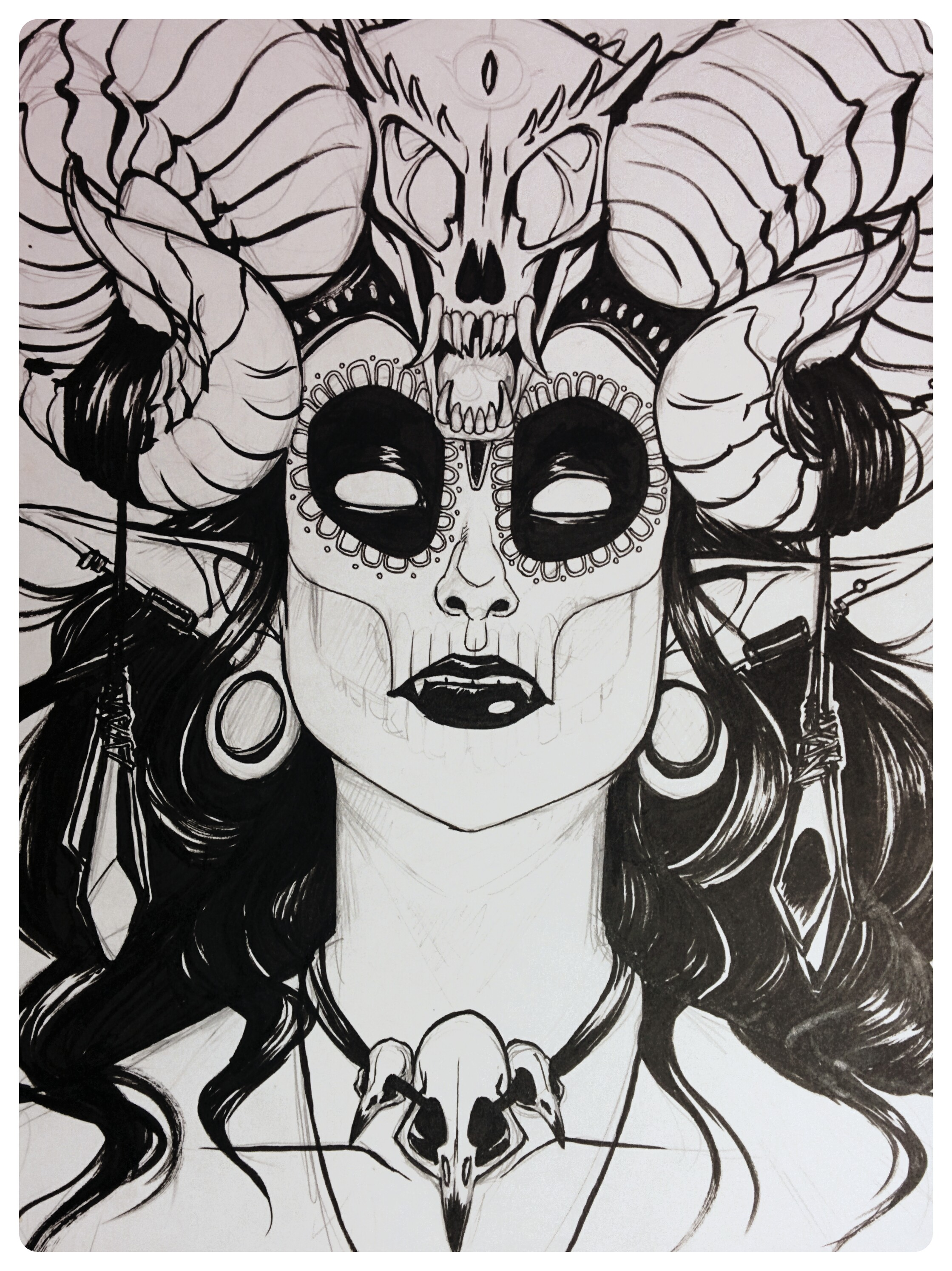 ANOTHER Horned Monster Lady