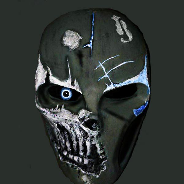 BlueDarkRevenge Paintball Mask