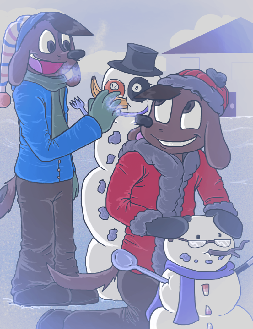 Brotherly Bonding in the Snow