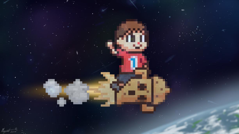 8-Bit Villager in Space (SSB)