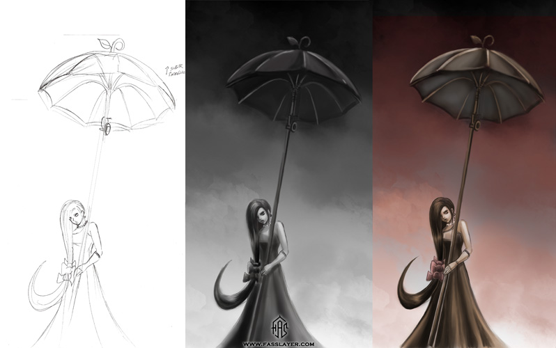 Umbrella girl wip