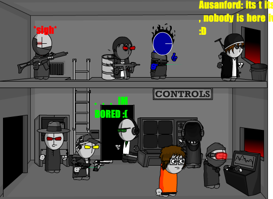 Madness team: Controls room