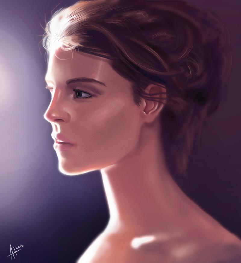 Light on her face