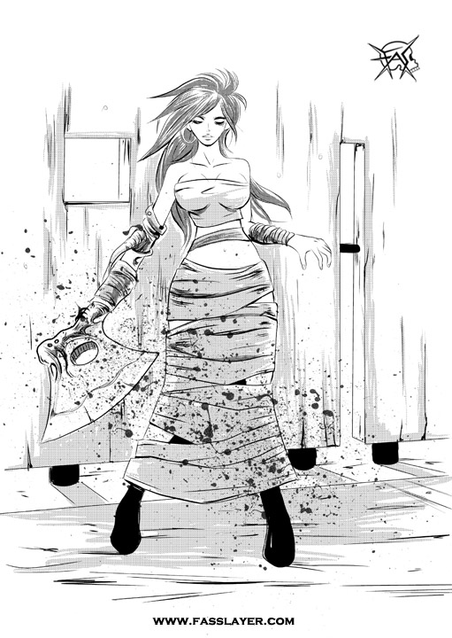 Zombie Axe Girl
