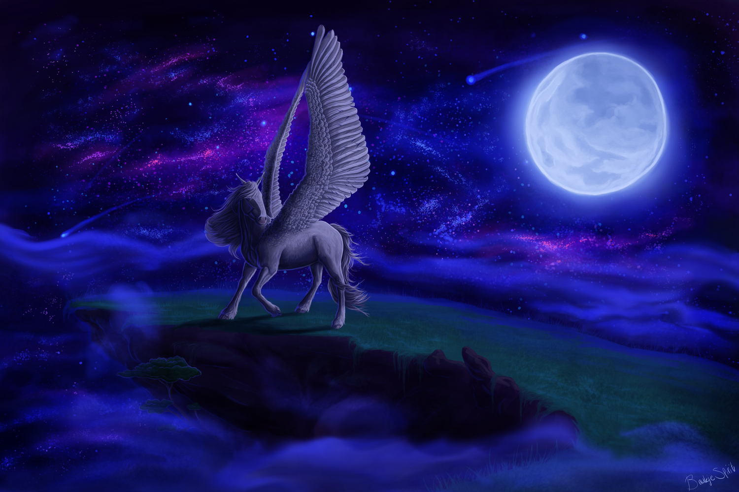 Pegasus in the Night Sky
