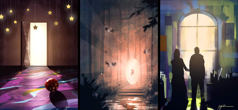 1 hour/ 3 paintings