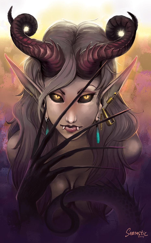 Painterly Demoness