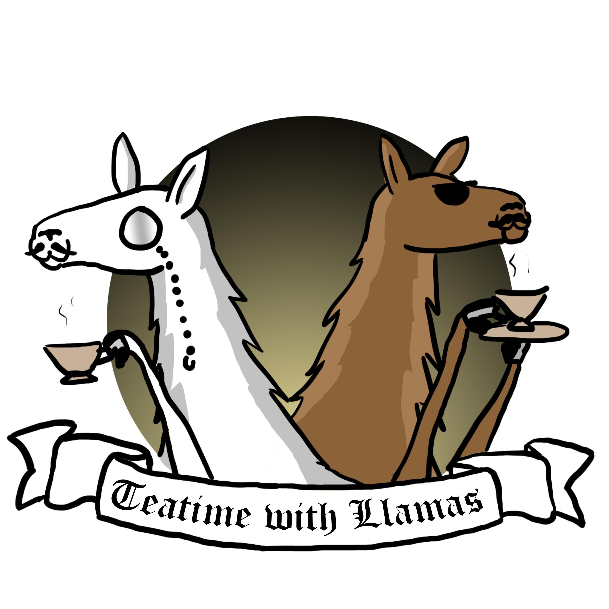 Tea time with llamas Logo