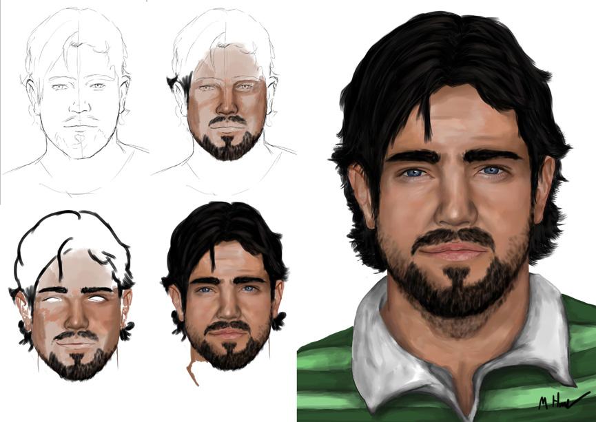 Scott Portrait Progression