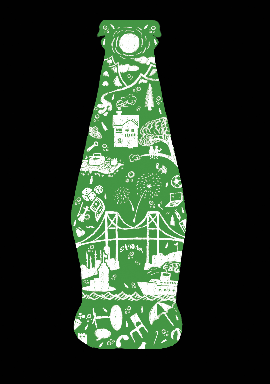 The bottle design dry brush