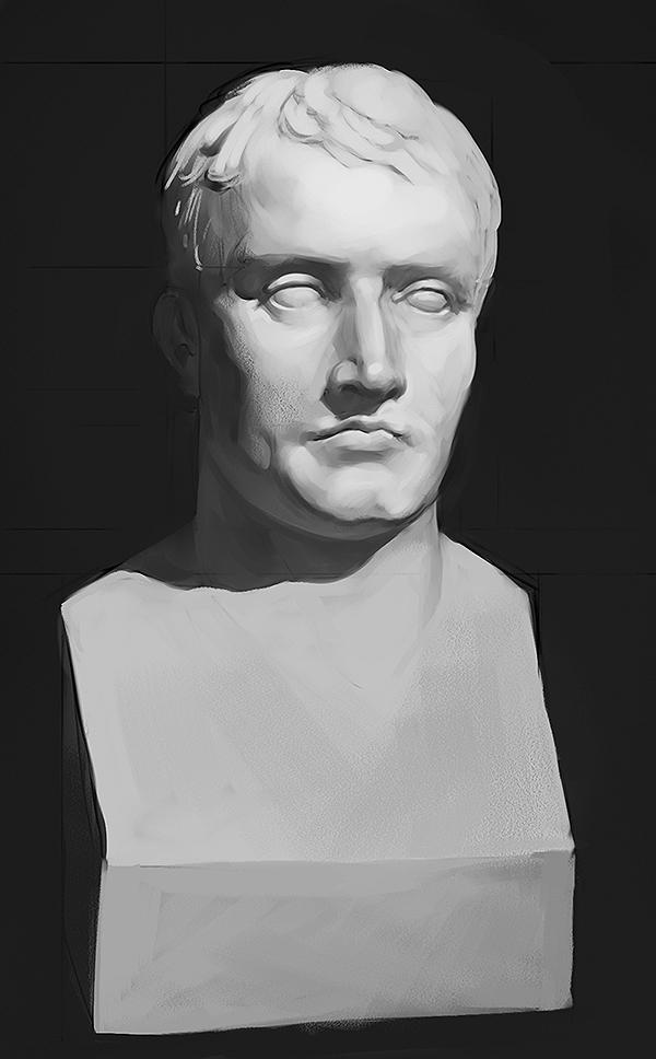 Napoleon sculpture study