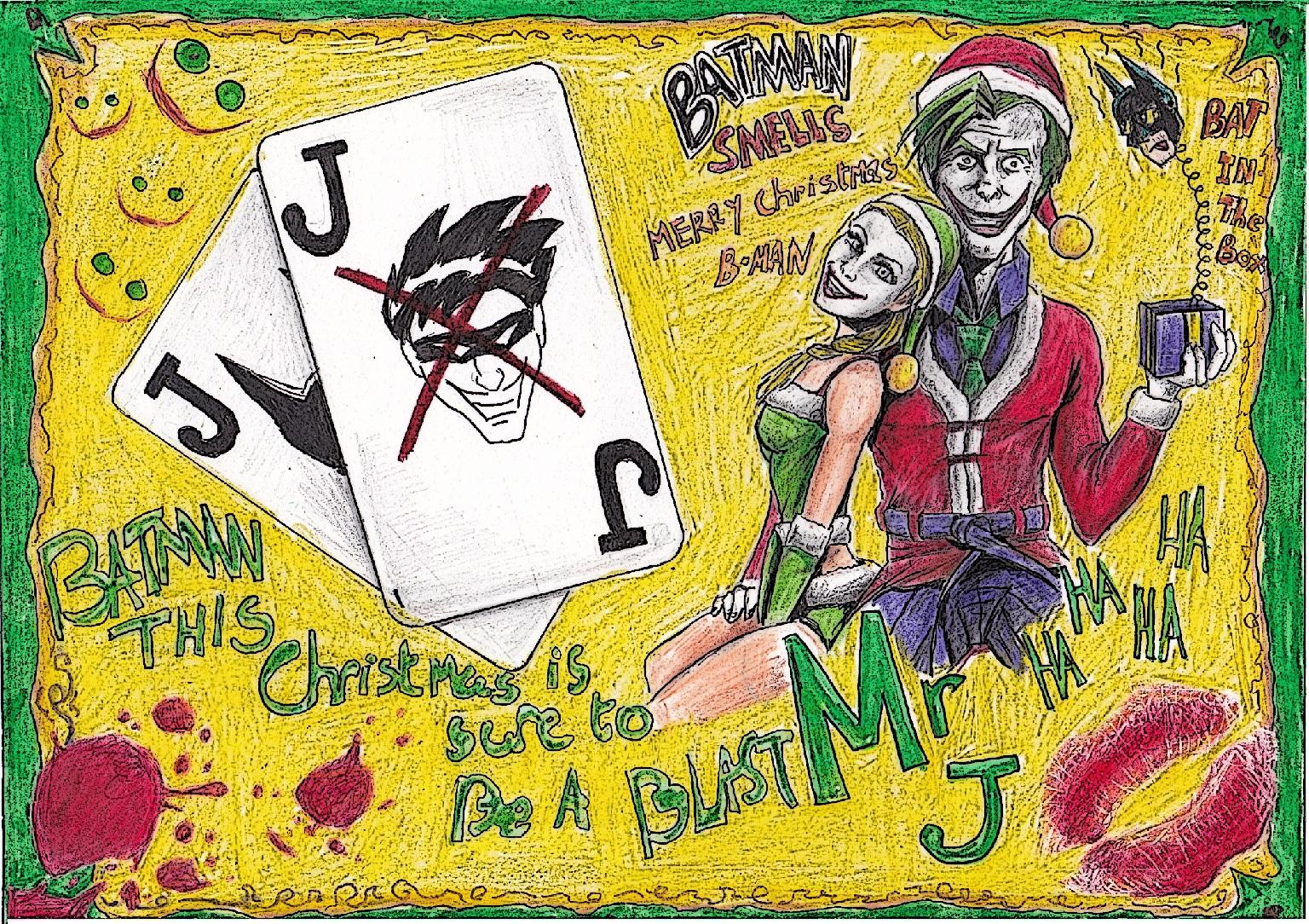 Joker Christmas Card