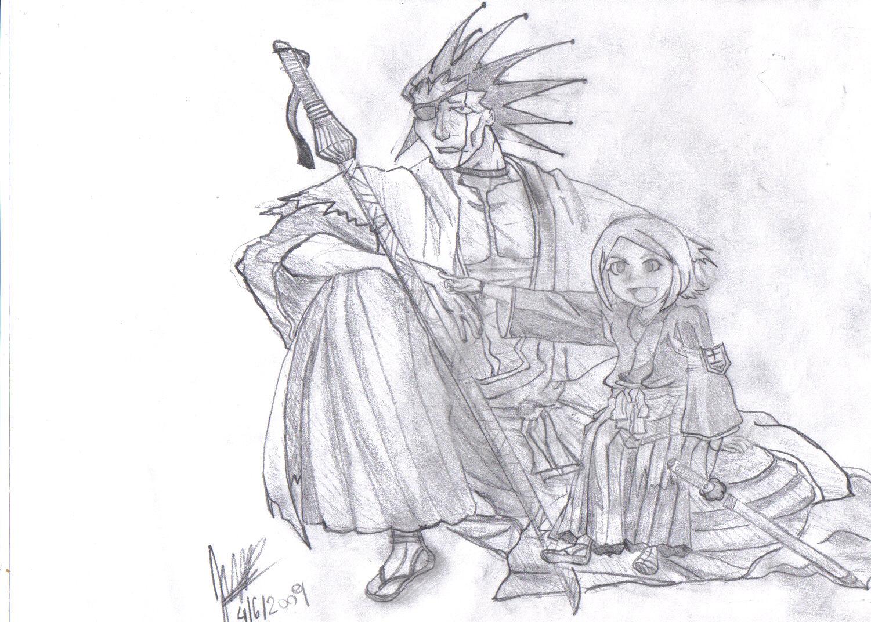 Kenpachi and Yachiru!