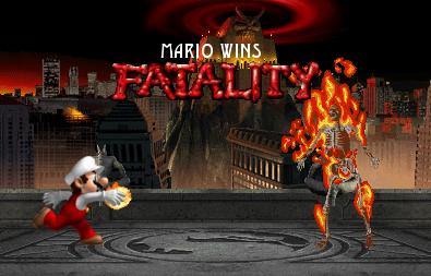 Mario in Mortal Kombat