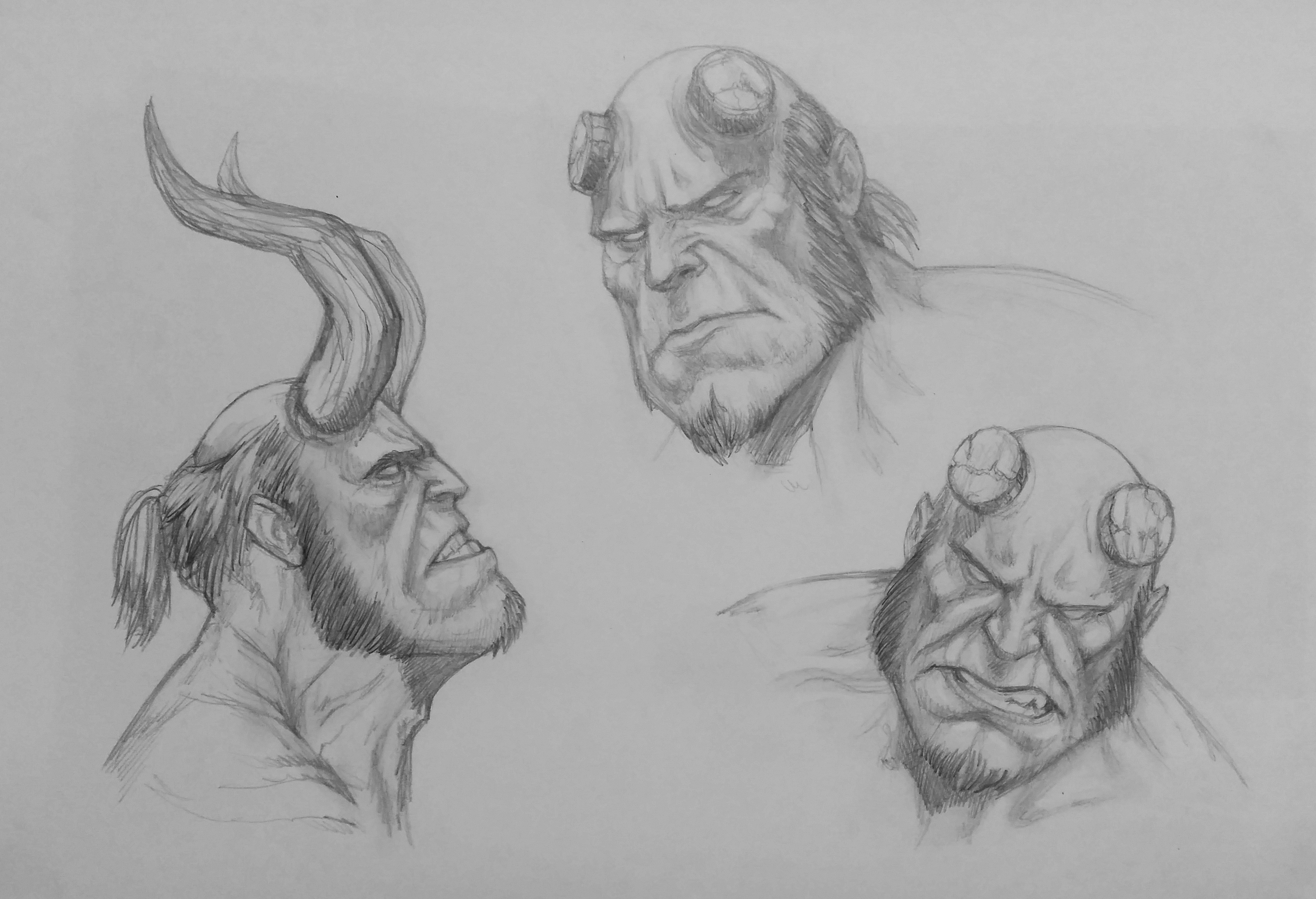 Hellboy headsketch