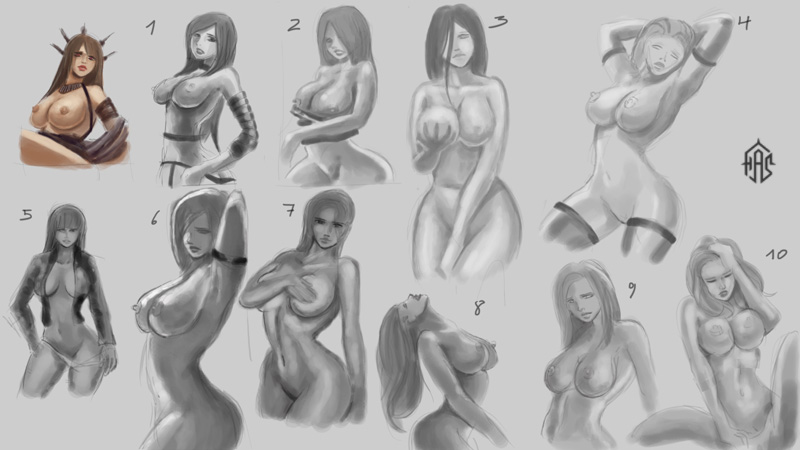 Girls paintings