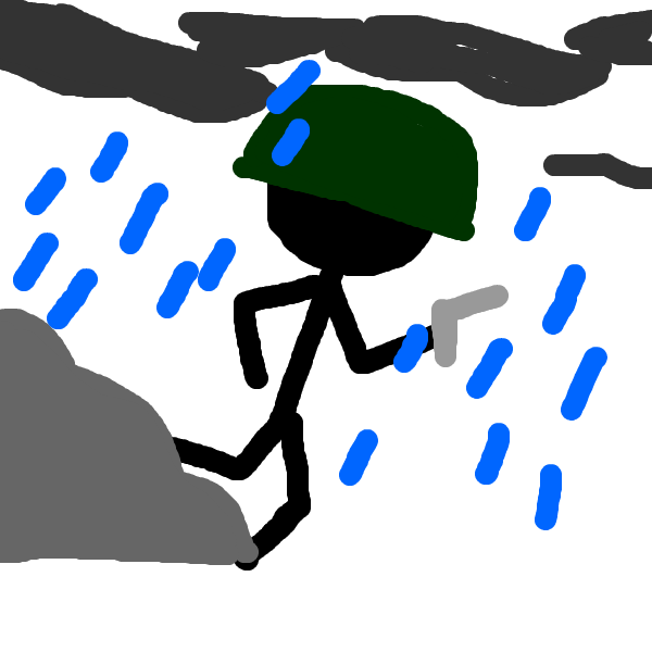 Stick Man War Rainy
