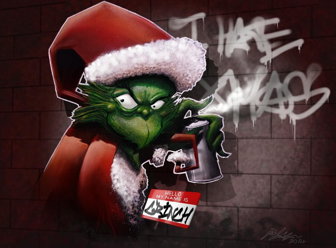Da Grinch Graffiti