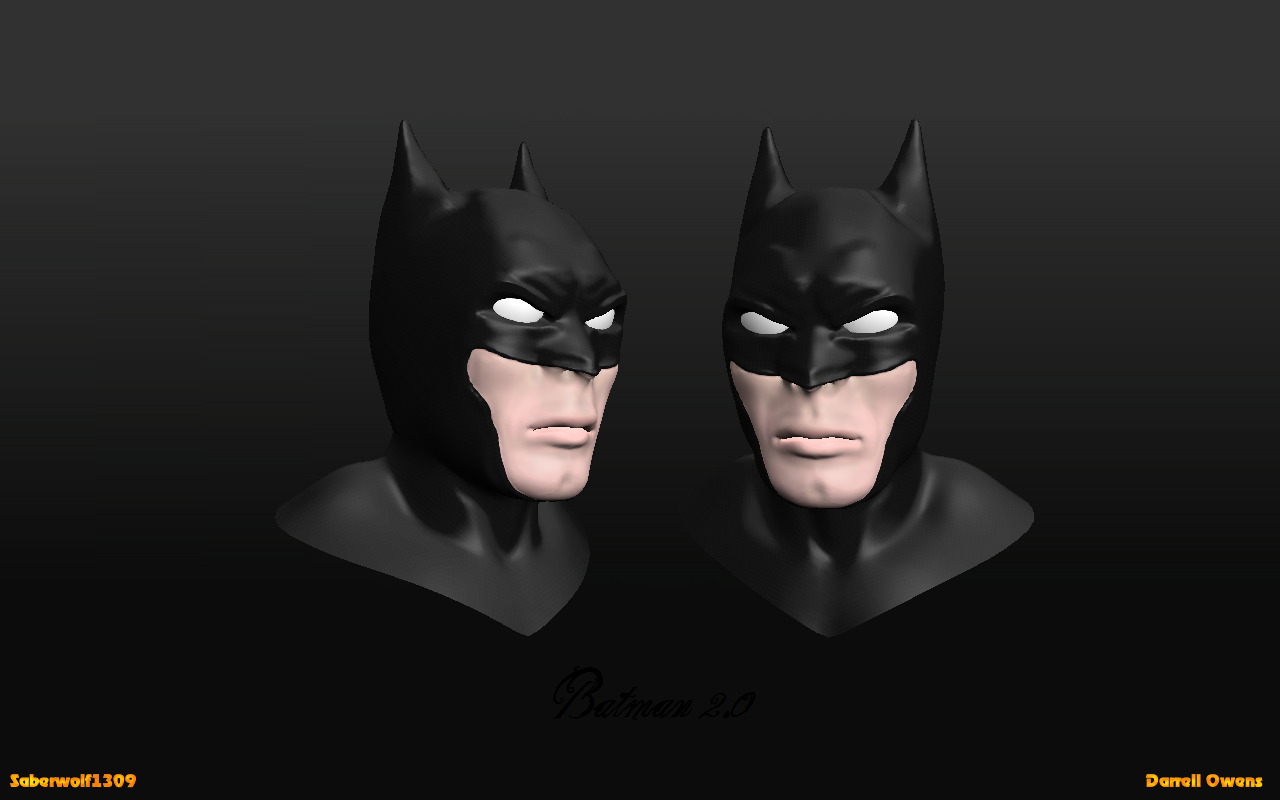 Batman 3d head