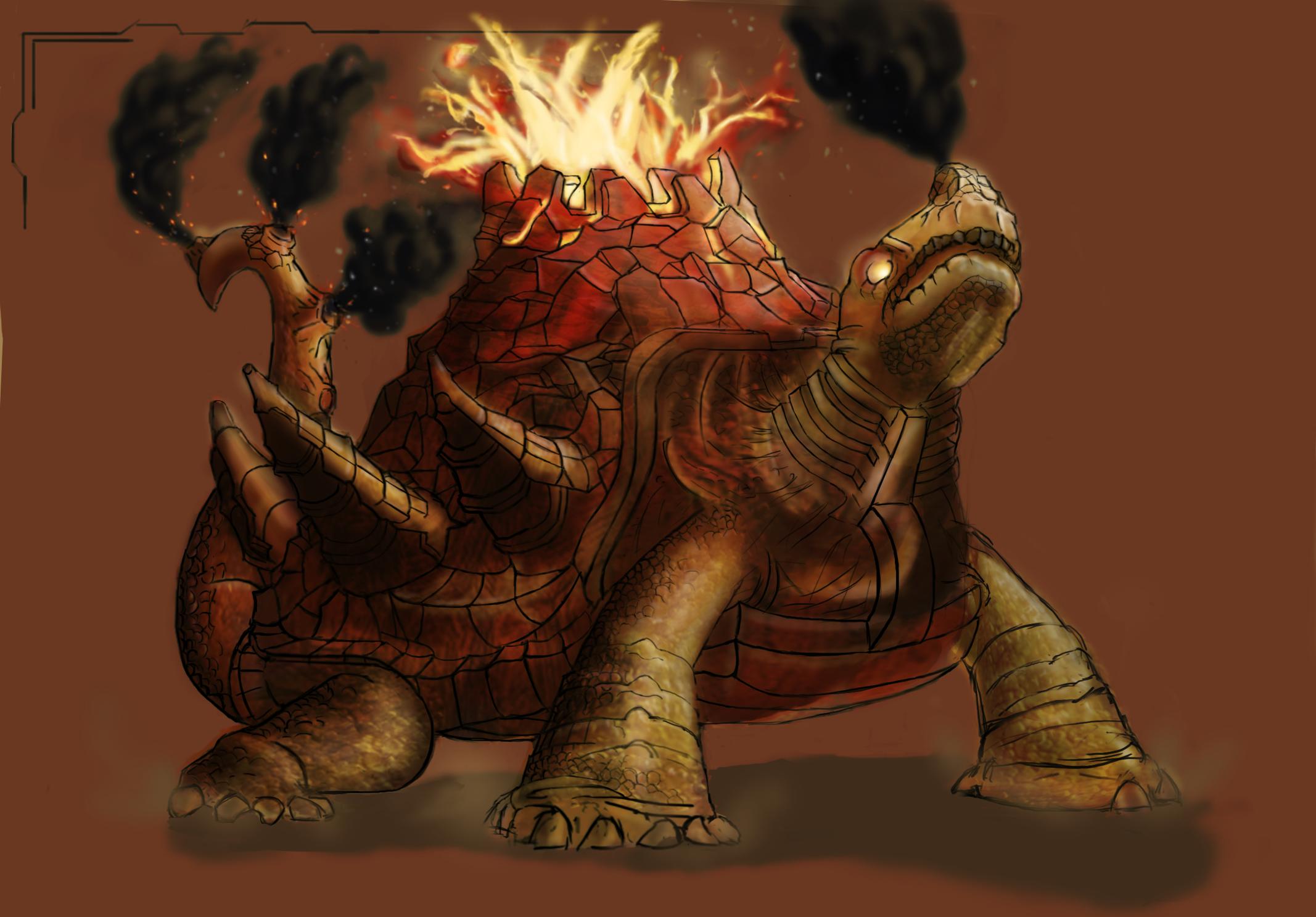 Lava turtle