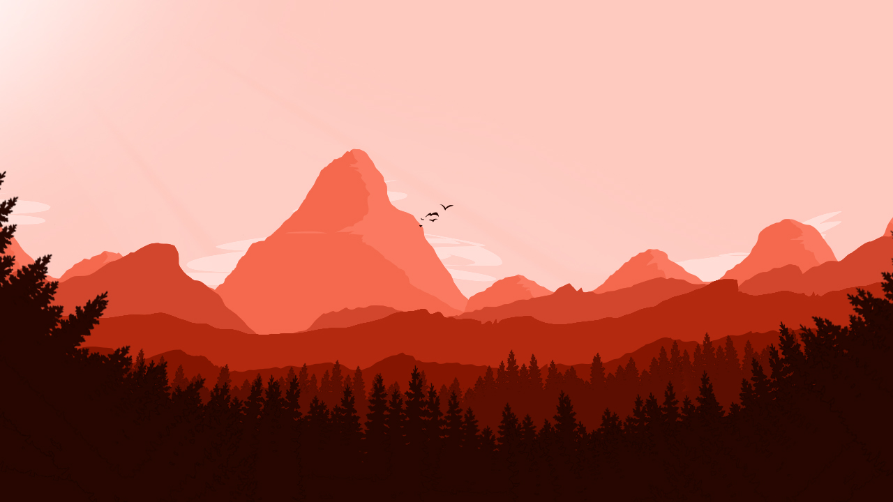 mountains red.