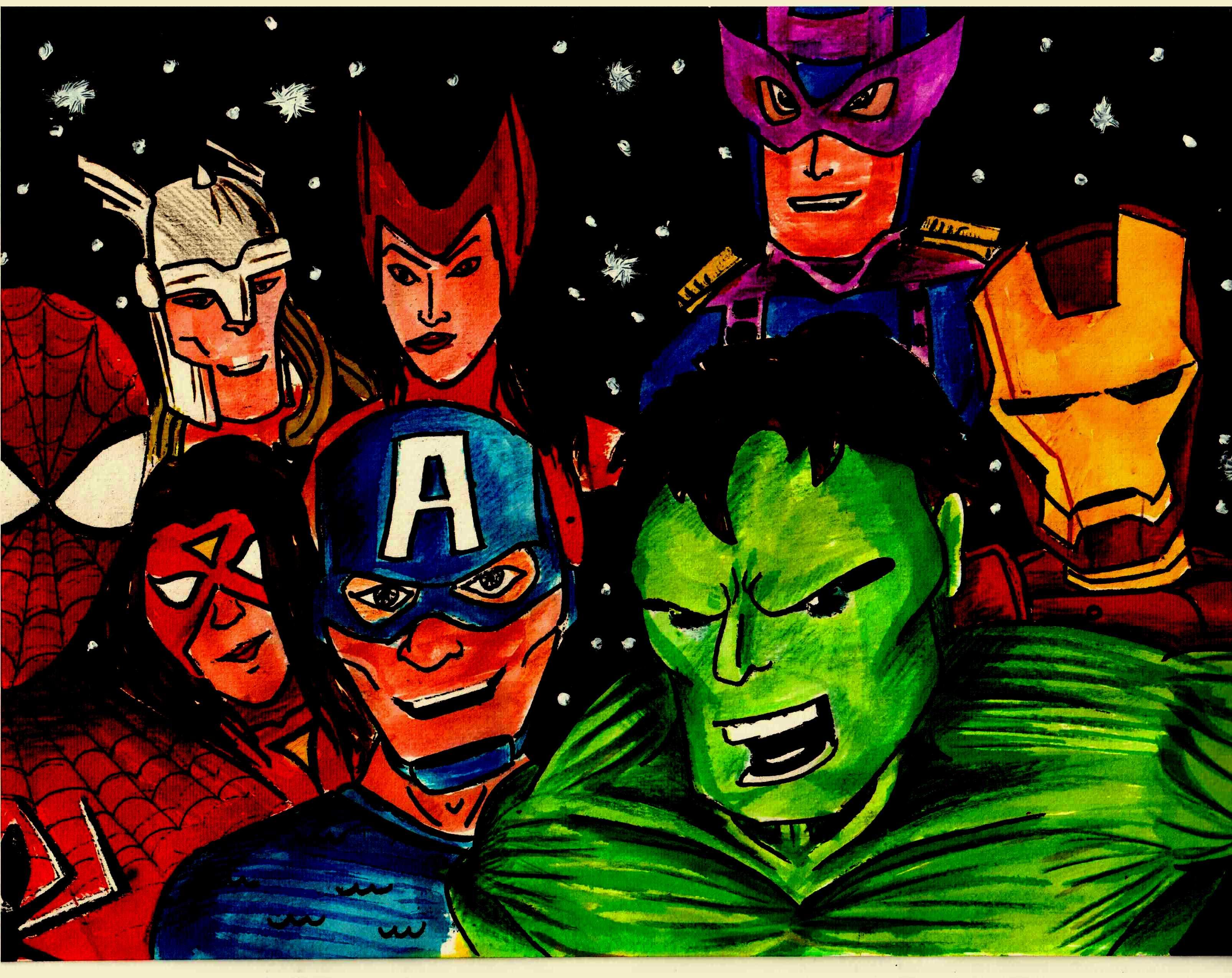 avengers assemble super selfie