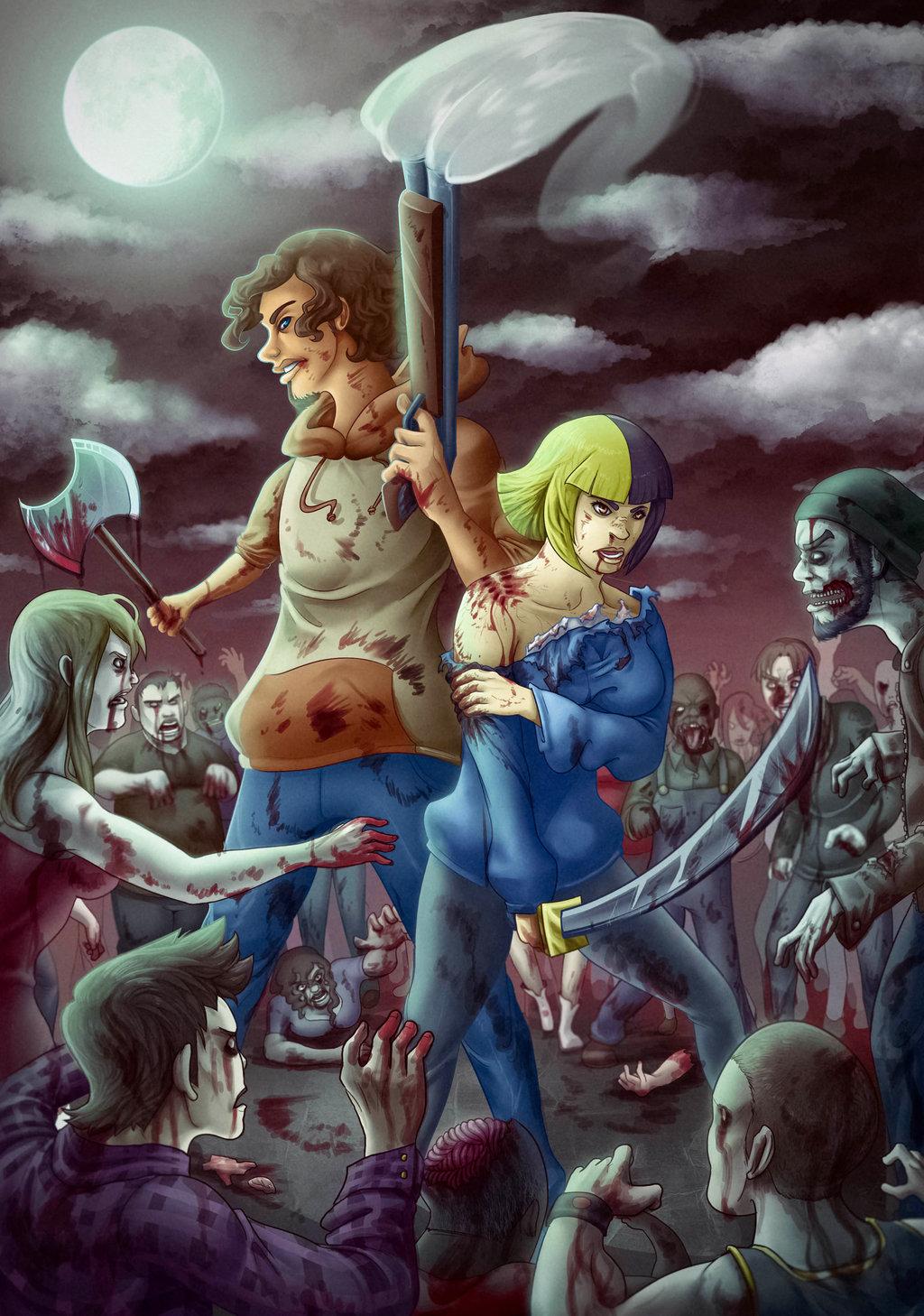 Zombie Apocolypse Commission
