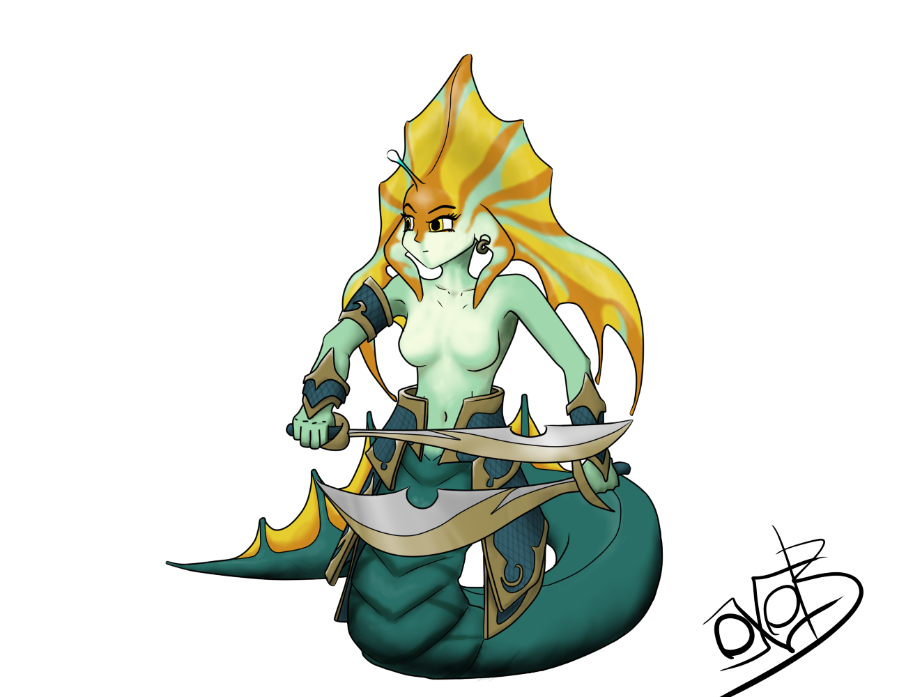 Slithice the Naga Siren