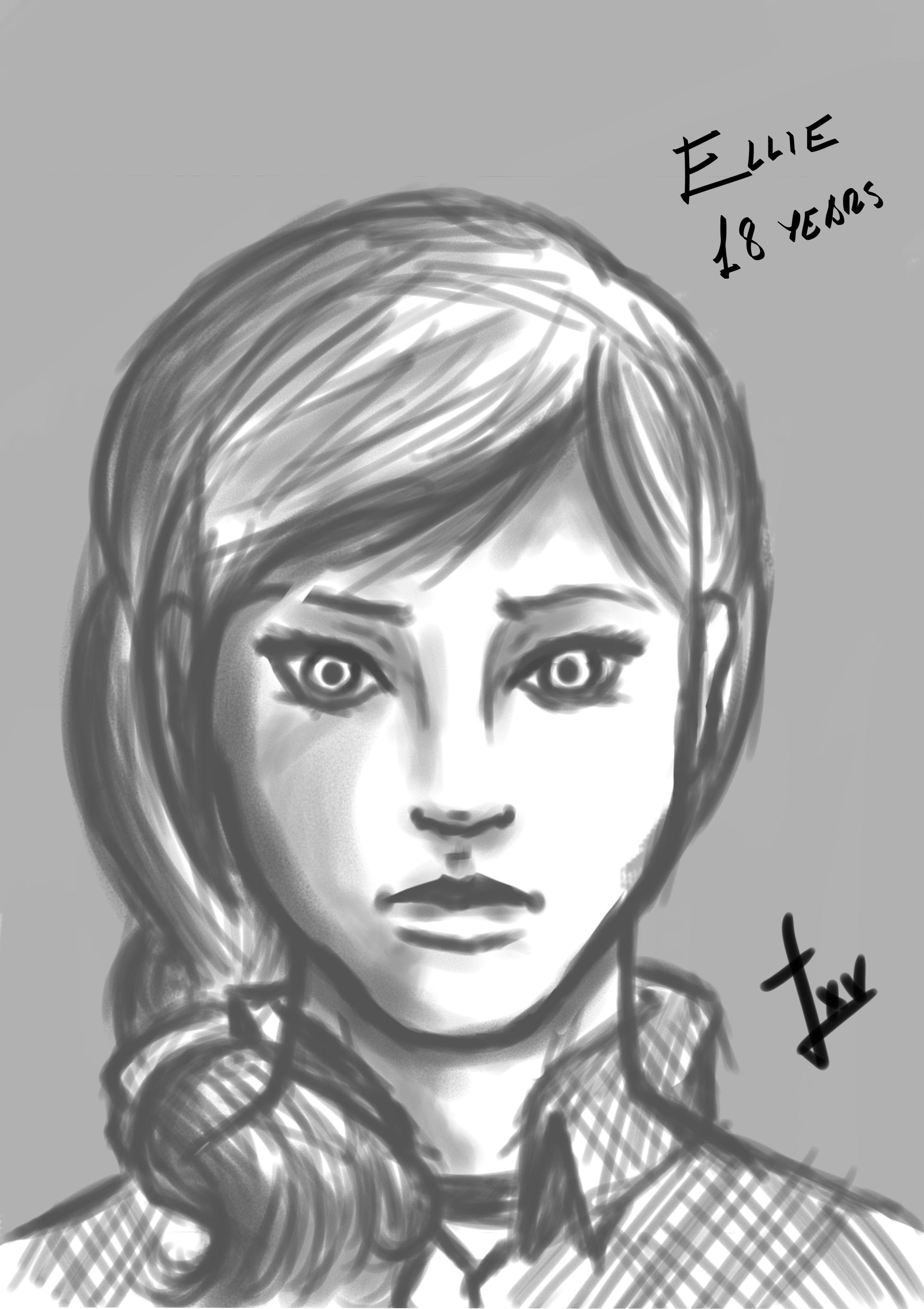 Ellie concept art TLOU2