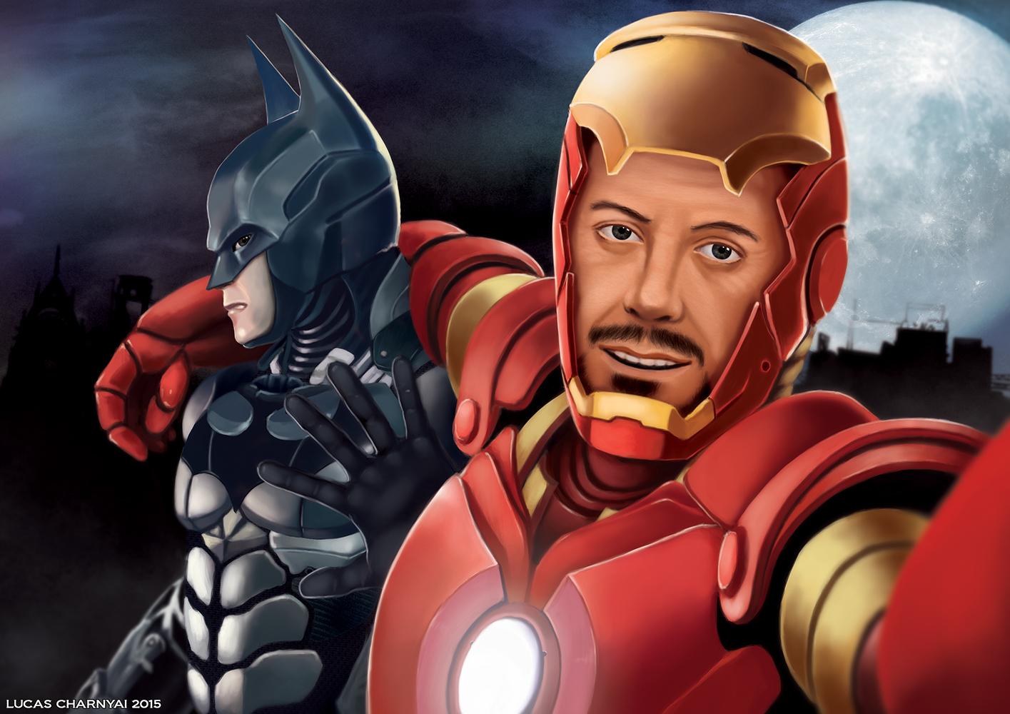 Iron Man and Batman Selfie