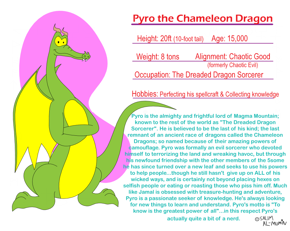 Fact File: Pyro the Dragon