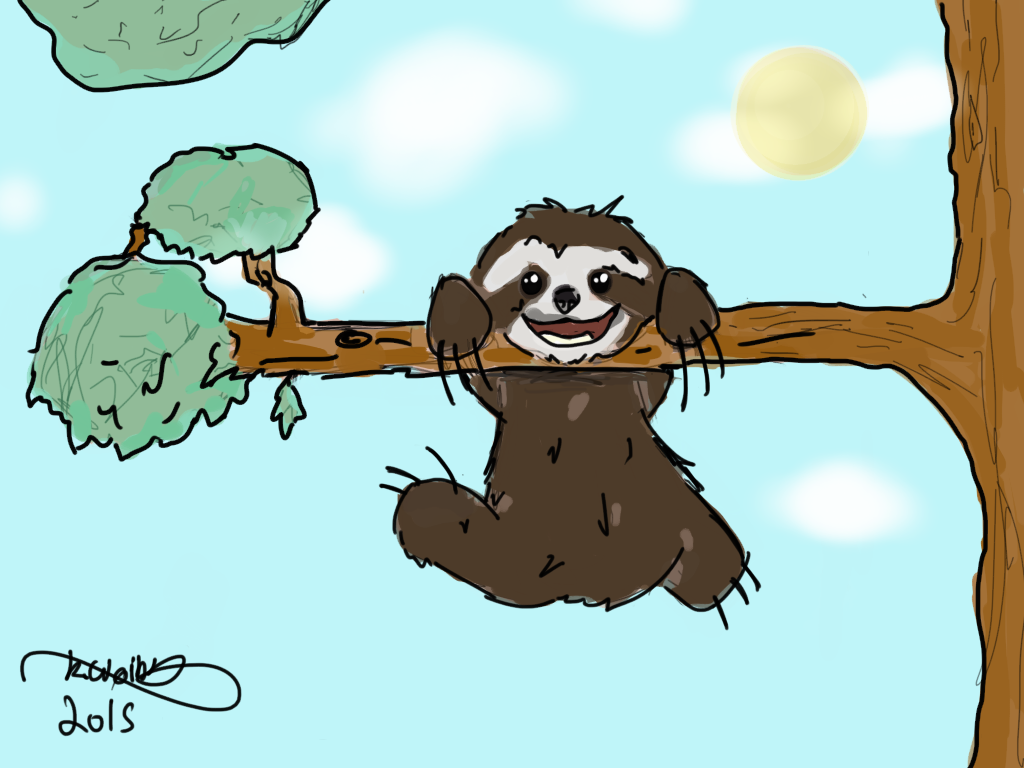 A Sloth drawing