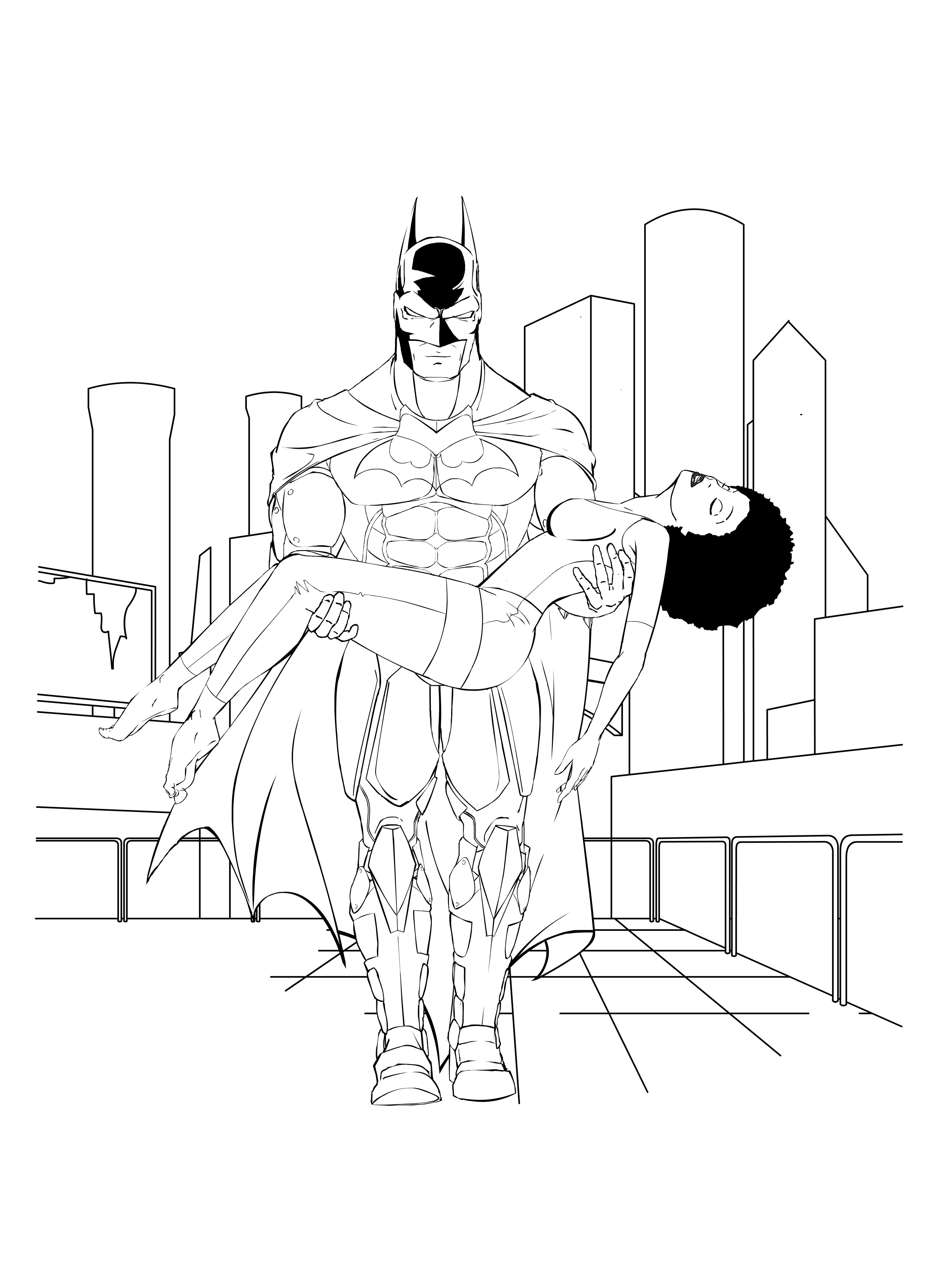 Batman saves Simone