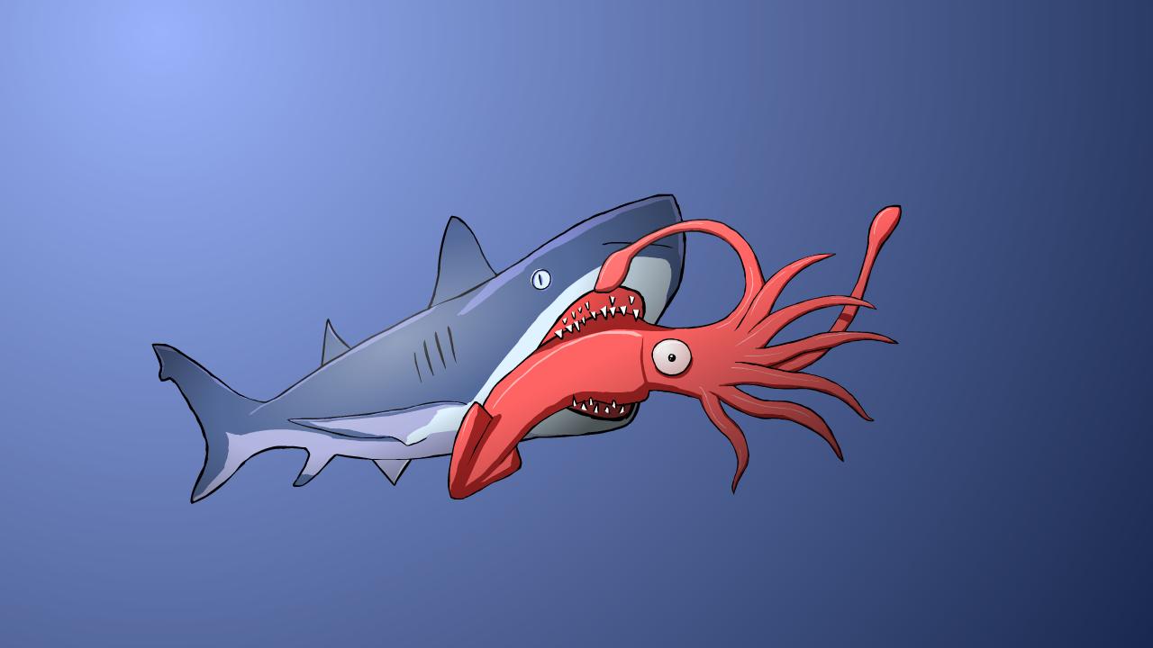 Shark vs Squid