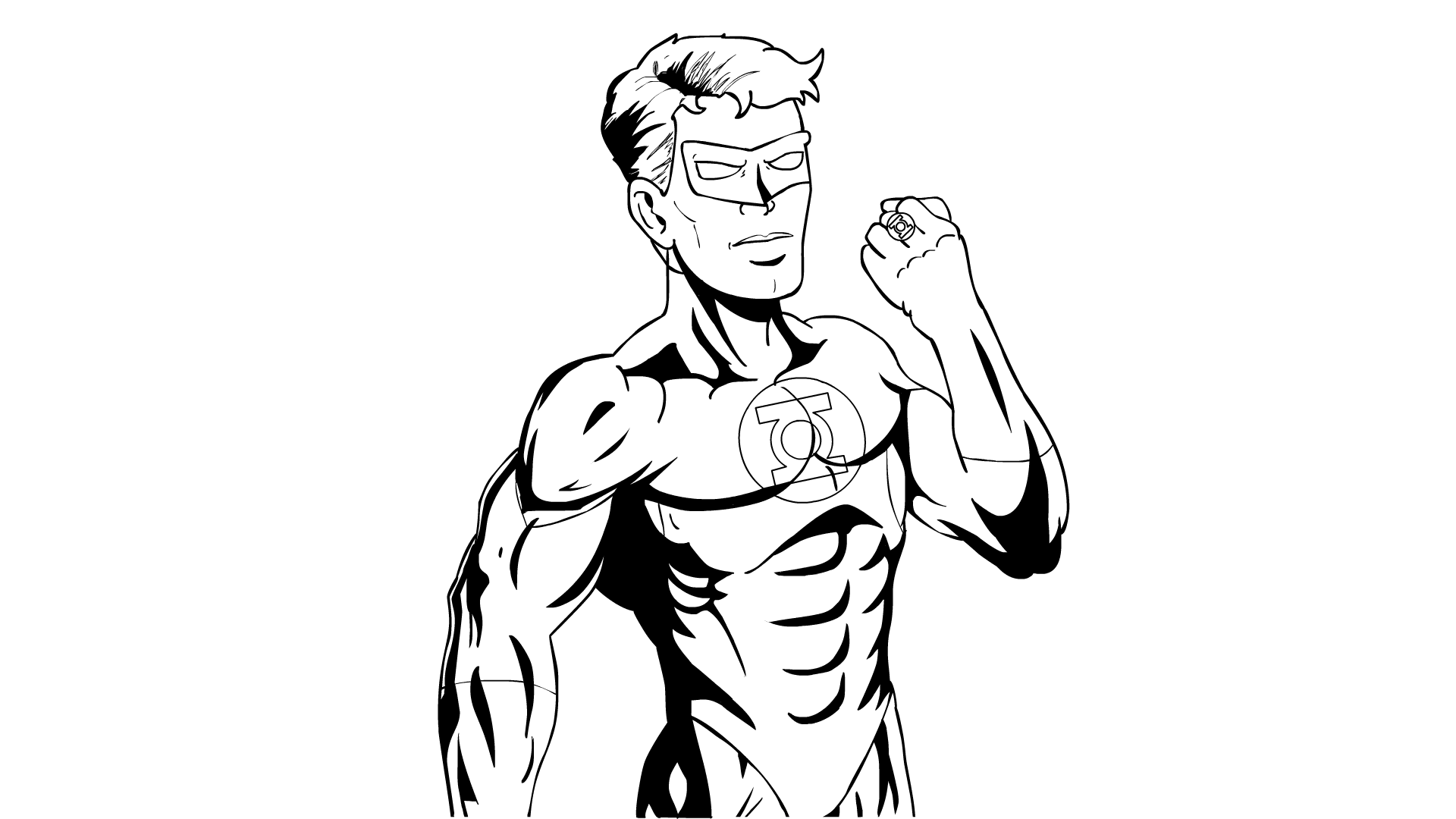 Green Lantern Comic Shading