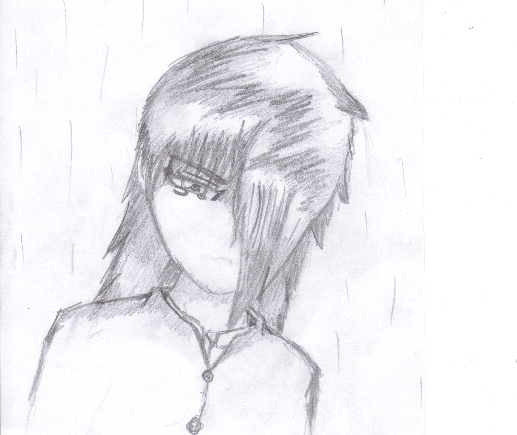 Emo Anime Drawing