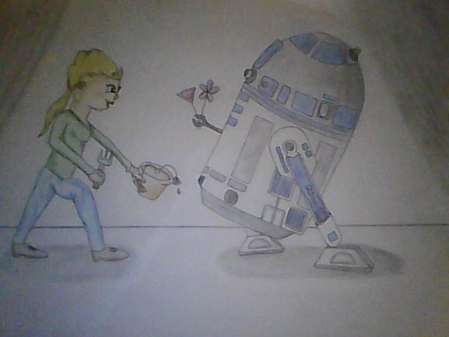 R2D2 falls in love :)