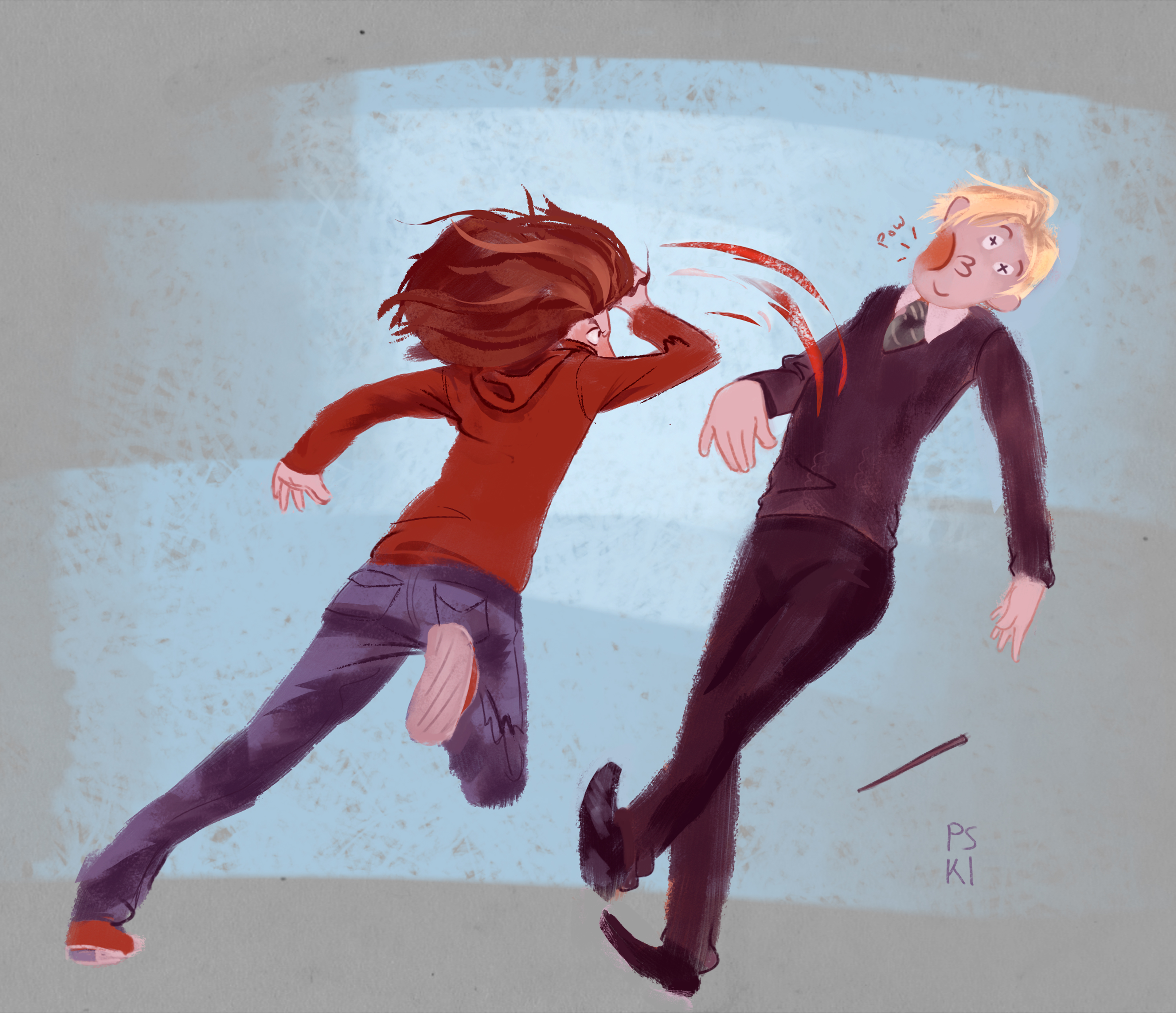 Hermione Punches Draco!